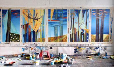 """""""Jewels of Nature"""", 2007, Acryl auf Leinwand, 140 x 80(100) cm"""